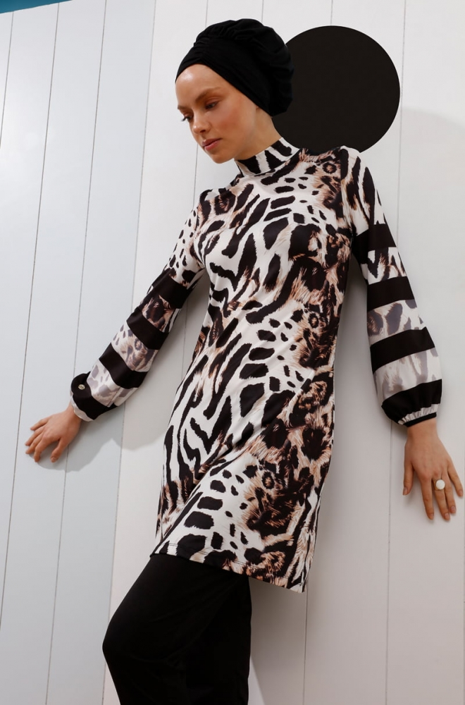 30a41b51b8 Mayovera Modern Leopard Muslim Woman Swimsuit Browse & Buy